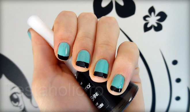 french-albastru-tips-negre-2